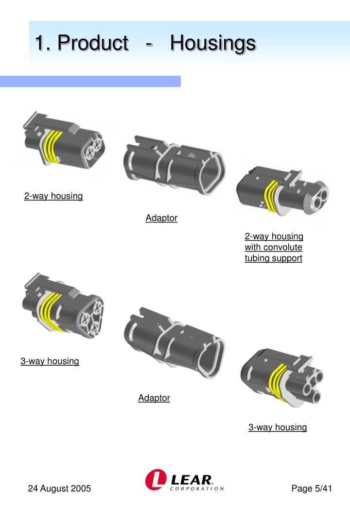 1. Product   -   Housings