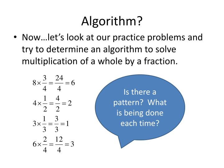 Algorithm?