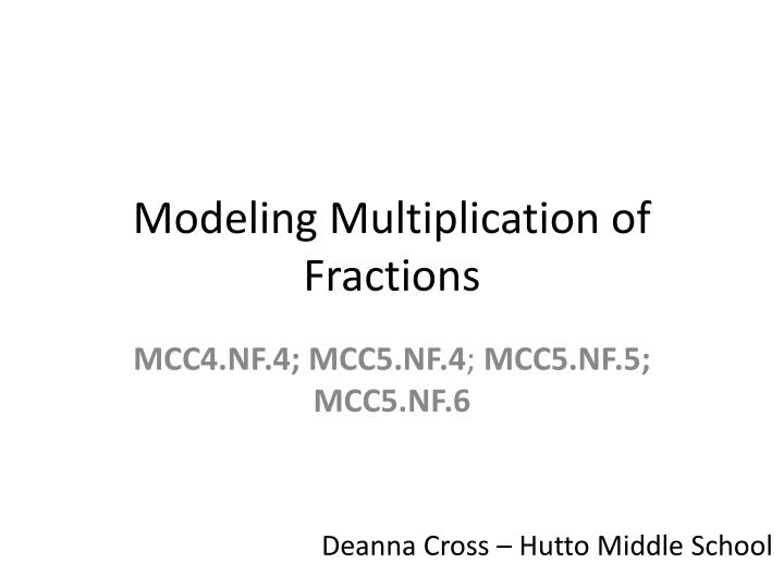 Modeling multiplication of fractions