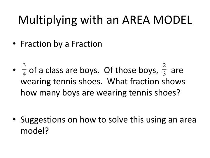 Multiplying with an AREA MODEL