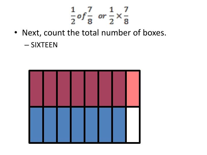 Next, count the total number of boxes.