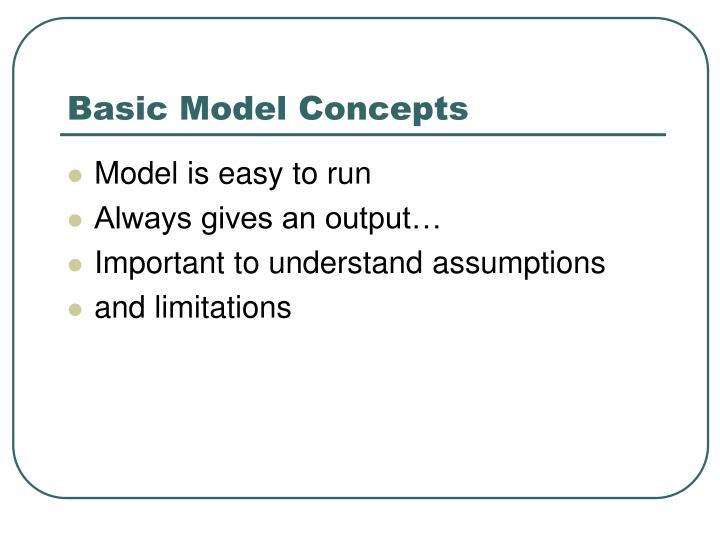 Basic Model Concepts