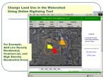 change land use in the watershed using online digitizing tool