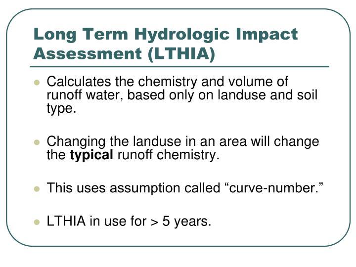 Long Term Hydrologic Impact Assessment (LTHIA)