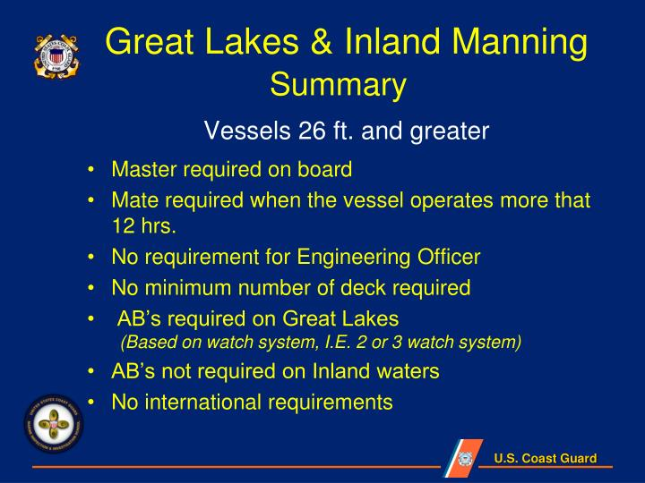 Great Lakes & Inland Manning