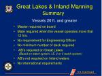great lakes inland manning
