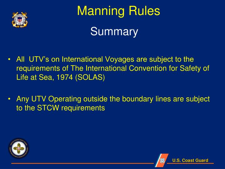 Manning Rules