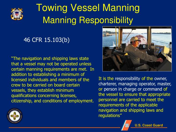 Towing vessel manning