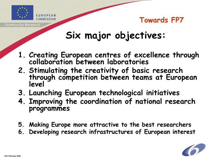 Creating European centres of excellence through collaboration between laboratories