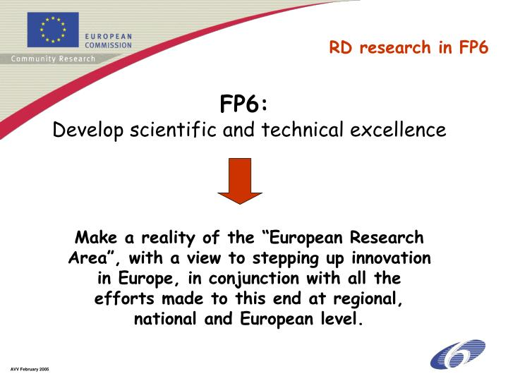RD research in FP6