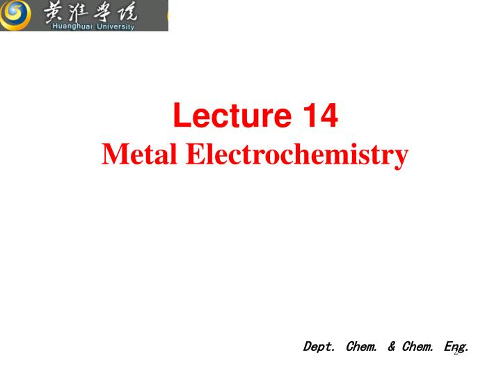 Lecture 14