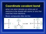 coordinate covalent bond