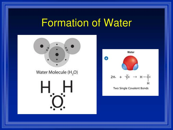 Formation of Water