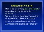 molecular polarity