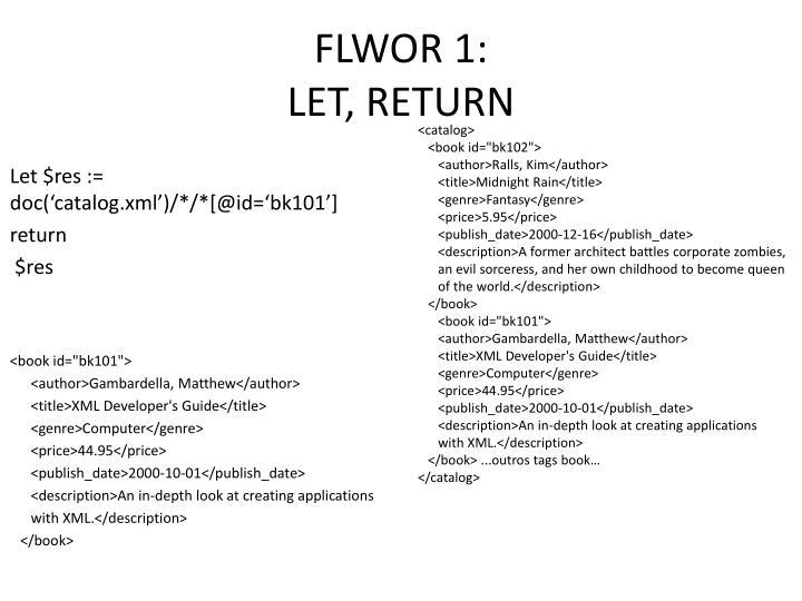 FLWOR 1: