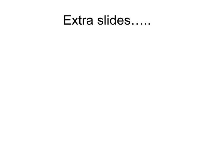 Extra slides…..