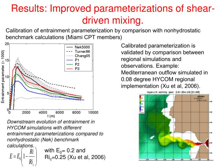 Results: Improved parameterizations of shear-driven mixing.