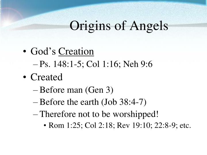 Origins of angels