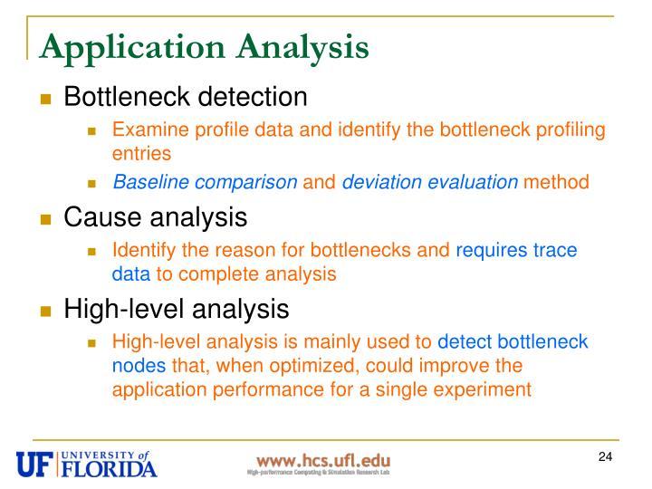 Application Analysis
