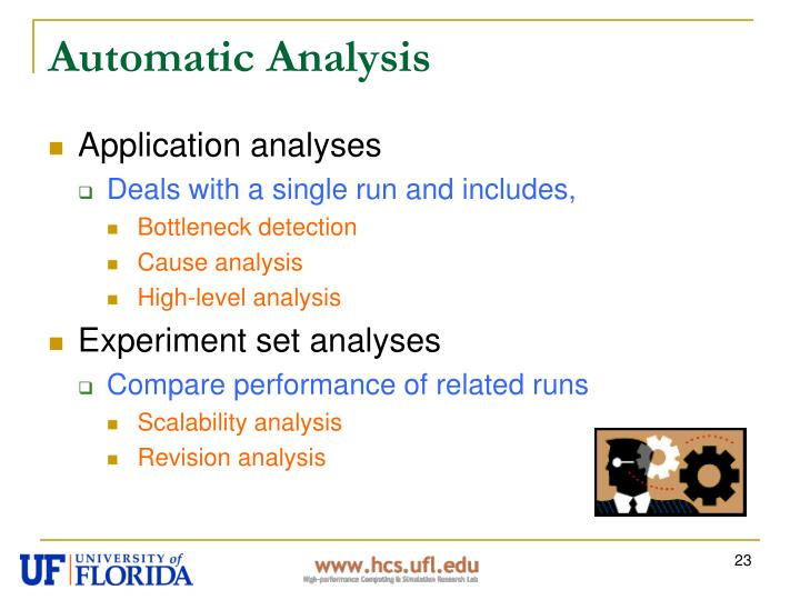 Automatic Analysis