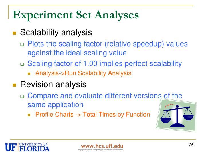 Experiment Set Analyses