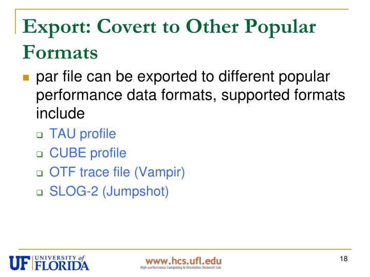 Export: Covert to Other Popular Formats