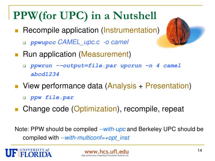 PPW(for UPC) in a Nutshell