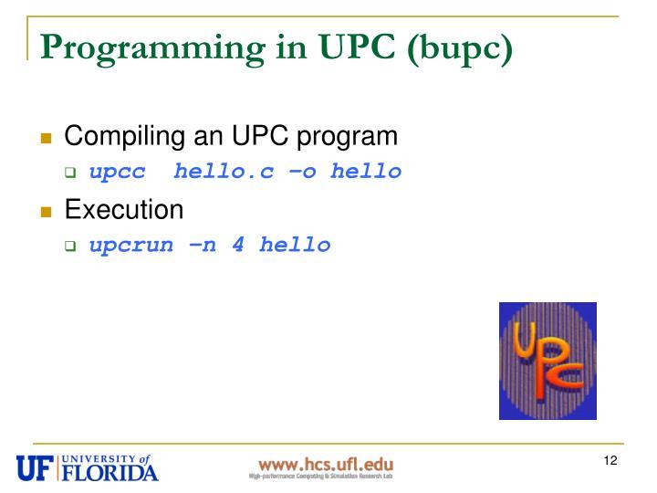 Programming in UPC (bupc)