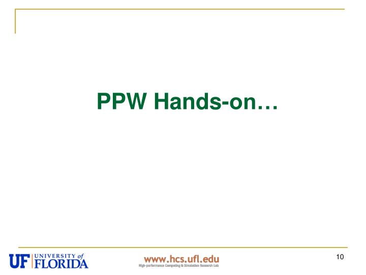 PPW Hands-on…