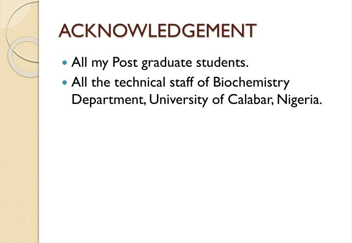 ACKNOWLEDGEMENT