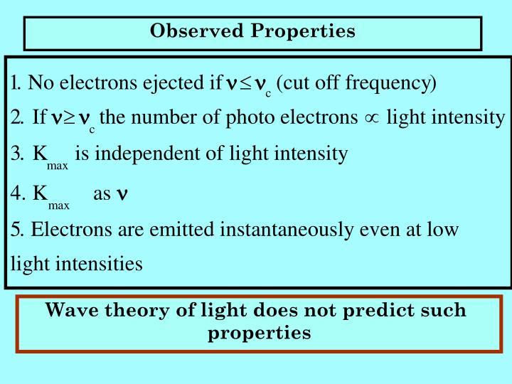 Observed Properties