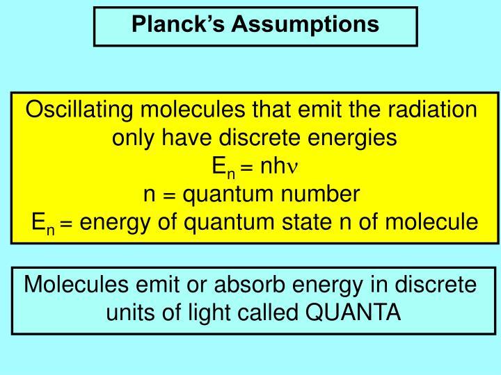 Planck's Assumptions