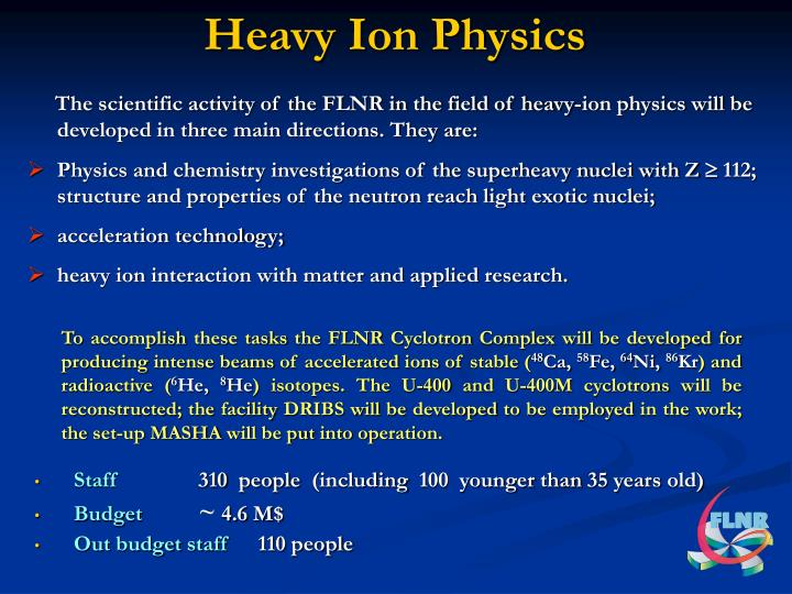 Heavy Ion Physics