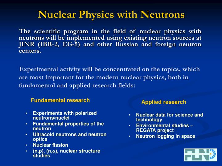 Nuclear physics with neutrons
