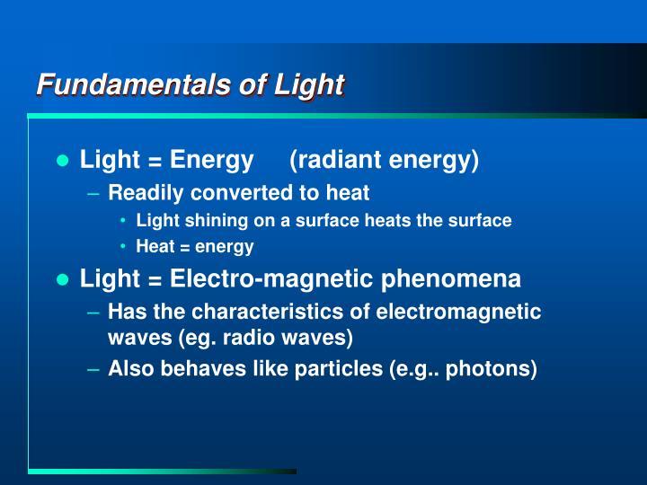 Fundamentals of Light