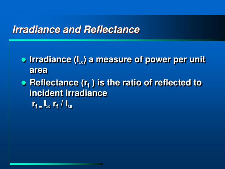 Irradiance and Reflectance