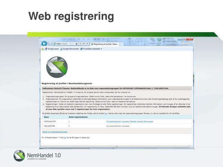 Web registrering