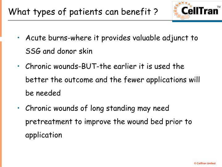 What types of patients can benefit ?