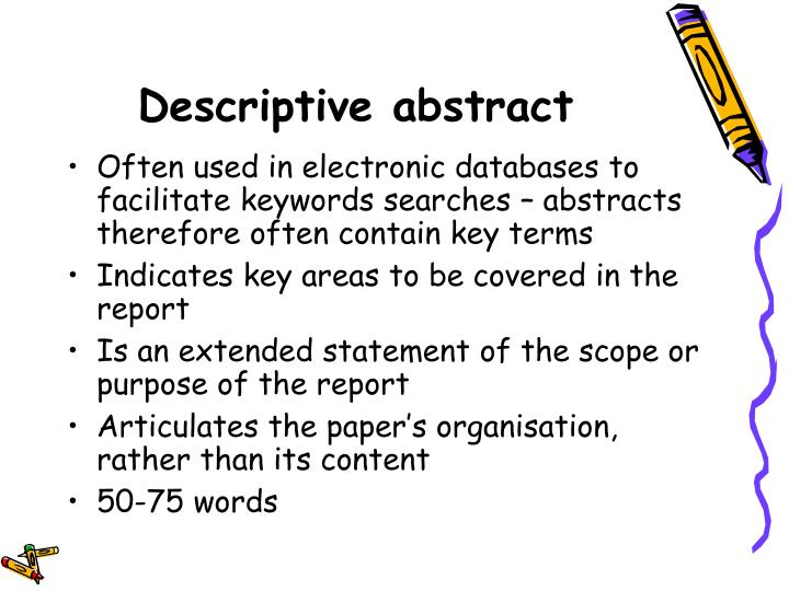 Descriptive abstract