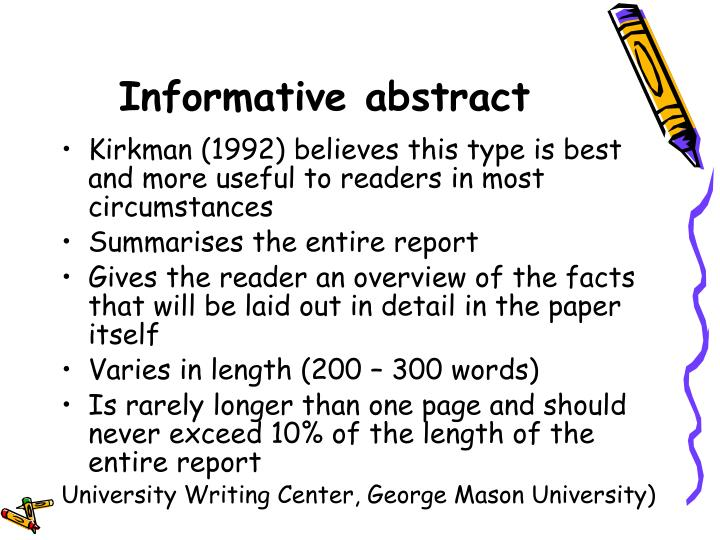 Informative abstract