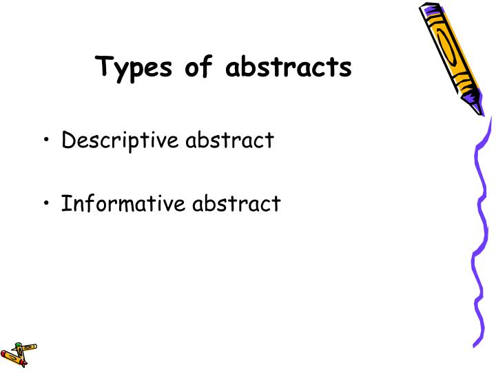 Types of abstracts