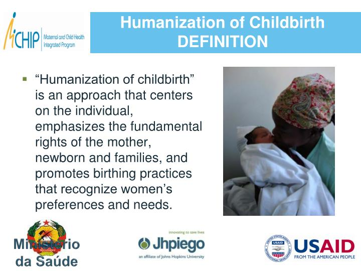 Humanization of childbirth definition