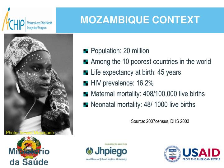 MOZAMBIQUE CONTEXT
