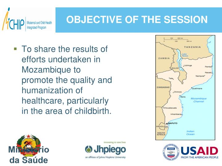 Objective of the session
