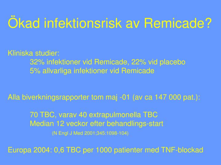 Ökad infektionsrisk av Remicade?