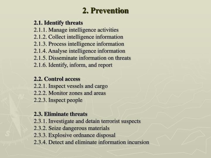 2. Prevention