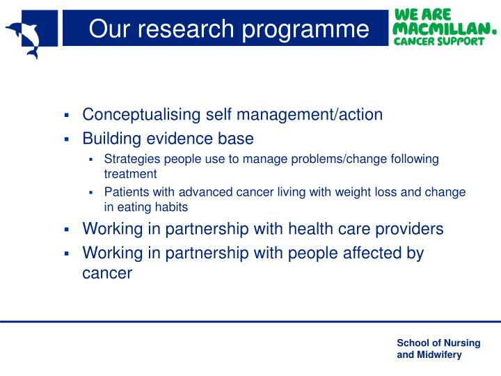 Our research programme
