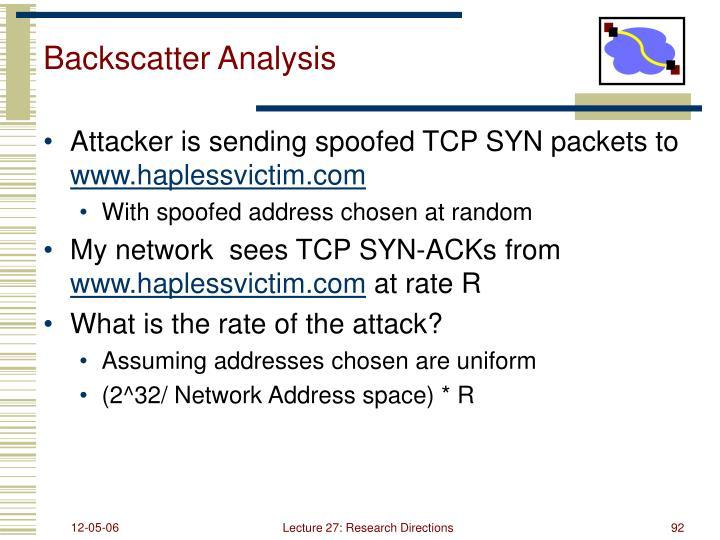 Backscatter Analysis