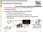 certification authorities