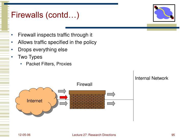 Firewalls (contd…)